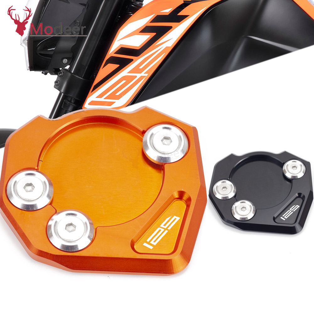 For KTM DUKE125 DUKE 125 2011 2012 2013 2014 2015 2016 2017 2018 2019 Kickstand Foot Side Stand Extension Pad Support Plate image