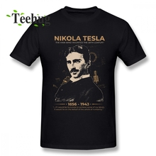 Hipster Nikola Tesla T Shirt Plus Szie Tee Man Leisure Unique For Graphic Top Tees Fashion New Arrivla design