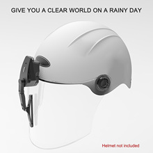 Universal รถจักรยานยนต์ไฟฟ้าใบปัดน้ำฝนมอเตอร์หมวกกันน็อกกระจก Wiper ใช้งานร่วมกับ Visor
