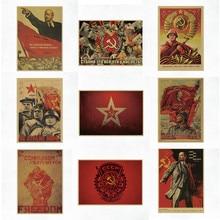 Cartazes de parede ussr cccp, lenin stálin da união soviética, posteres vintage, decoração, barra, arte na parede, retrô, adesivos de parede