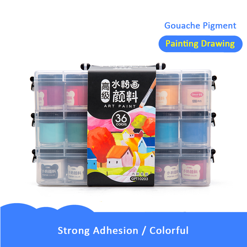 12/24/36 Colors Portable Travel Solid Pigment Watercolor Paints Set With Water Color Brush Pen For Painting Art Supplies