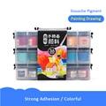 12/24/36 colores Portable Travel Solid pigmento acuarela pinturas Set con pincel de con depósito de agua para acuarela pluma para pintura arte suministros
