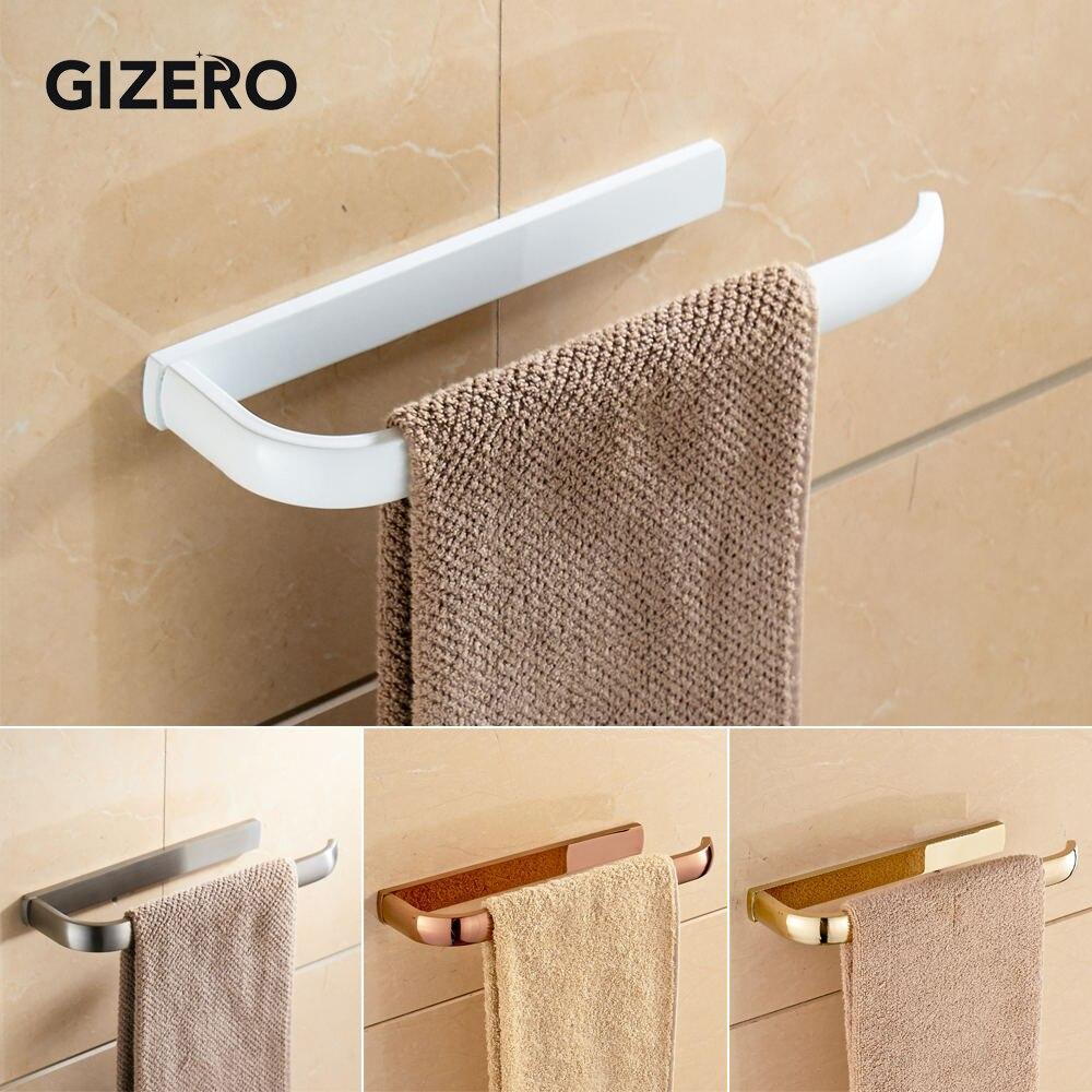Solid Brass Bathroom Towel Rack Holder Antique Brass Towel Bar Wall Mounted