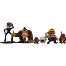 6Pcs/Set 3-8cm Super Mario Bros PVC Action Figure Mario Luigi Yoshi Mushroom Donkey Kong Model Toys with Oringinal Box for Gift super mario bros action figures set 6pcs
