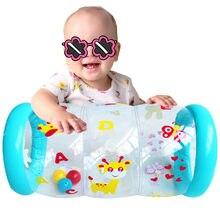 Bebê assistido rastejando treinamento rolo infantil inflável exercício de rolo aprendizagem precoce crianças estimulação cilindro crescimento