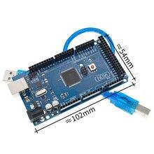 10pcs Mega 2560 R3 Mega2560 REV3 ATmega2560 16AU,ATMEGA16U2 MU Board + USB Cable compatible 10set