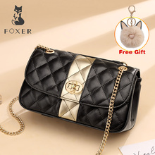 FOXER Brand 2019 Skin Office Lady Original Chic Flap Bag Female Fashion Small Crossbody Woman Elegant Leather Messenger