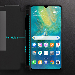 Image 5 - Di vibrazione Del Basamento Cassa Del Telefono per Huawei Compagno di 20 X/Compagno di 20X 5G Smart Phone Smart View Finestra di Copertura con la Cassa Del Supporto Della Penna