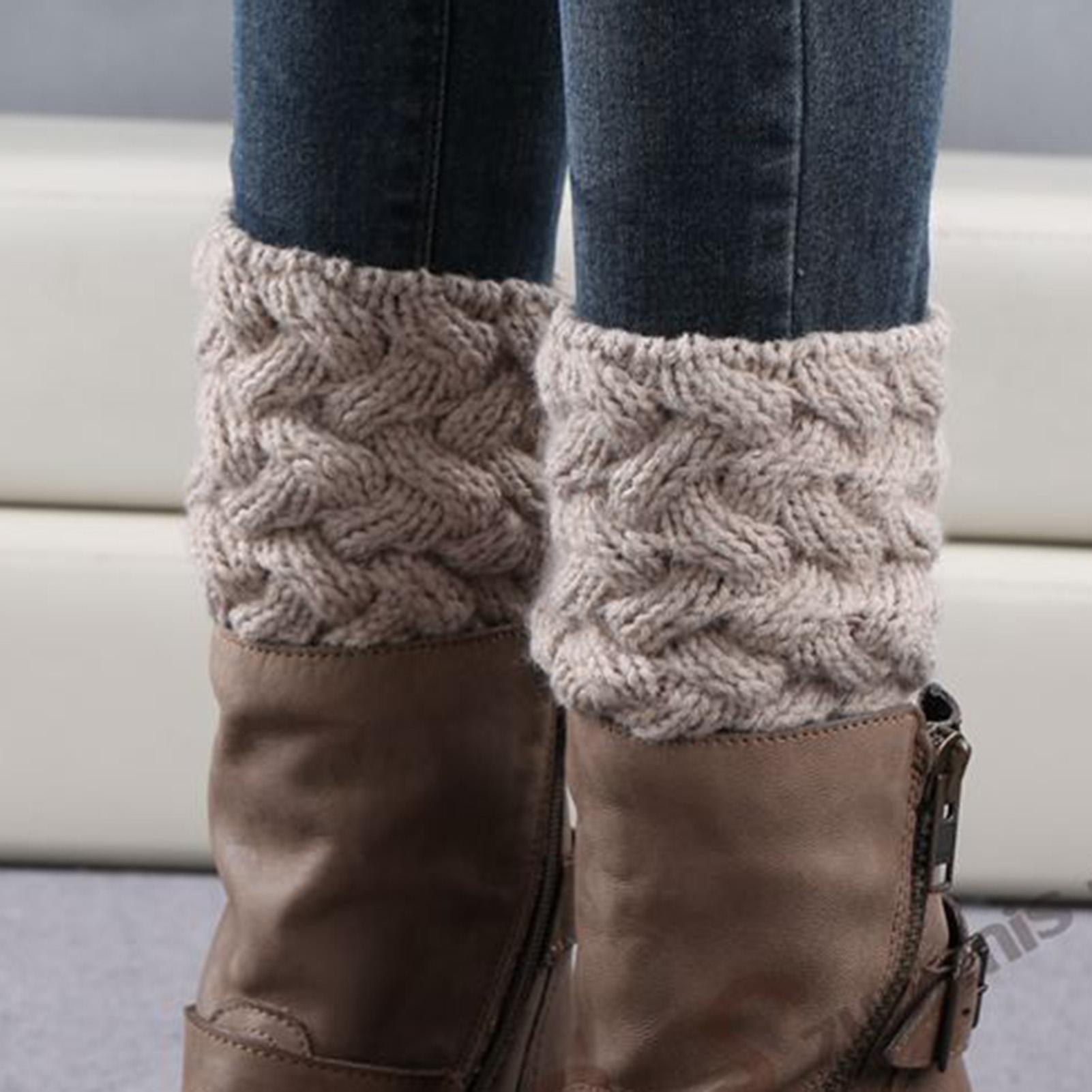 1 пара зимние теплые носки короткие утепленные бамбуковые тканые с цветочным узором рождественские носки гетры женские уличные теплые носки