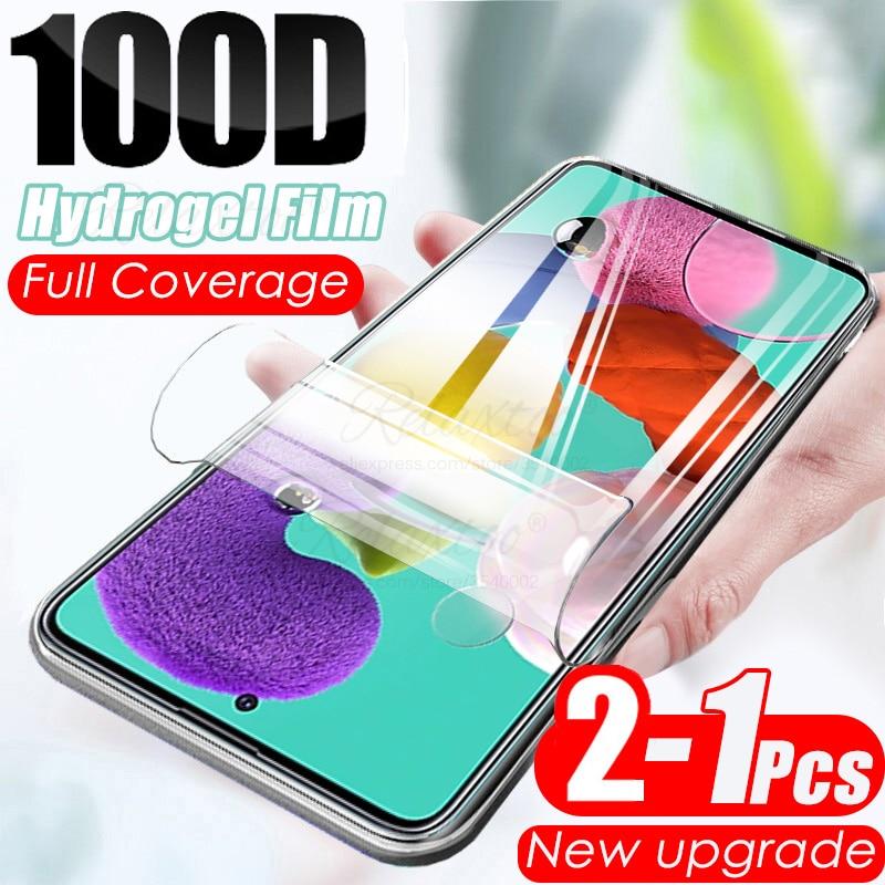 100D мягкий гидрогель пленка для Samsung Galaxy A01 A11 A21s A31 A41 A51 A71 M11 M21 M51, защитная пленка на экран для 51 71