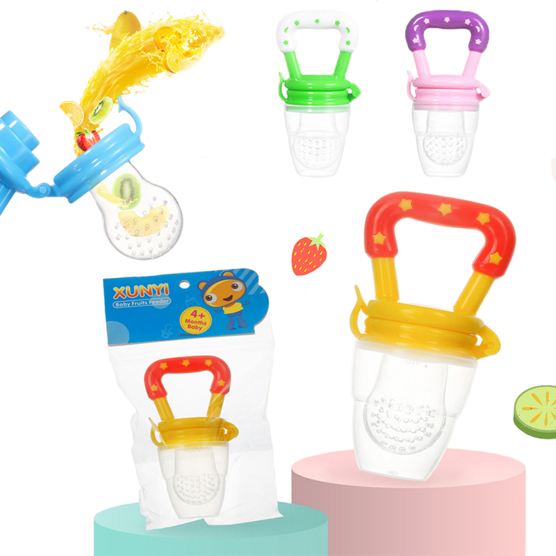 2019 Fresh Fruit Food Kids Nipple Feeding Safe Milk Feeder Baby Pacifier Bottles Teat Fresh Fruit Nibbler Safety Baby Products