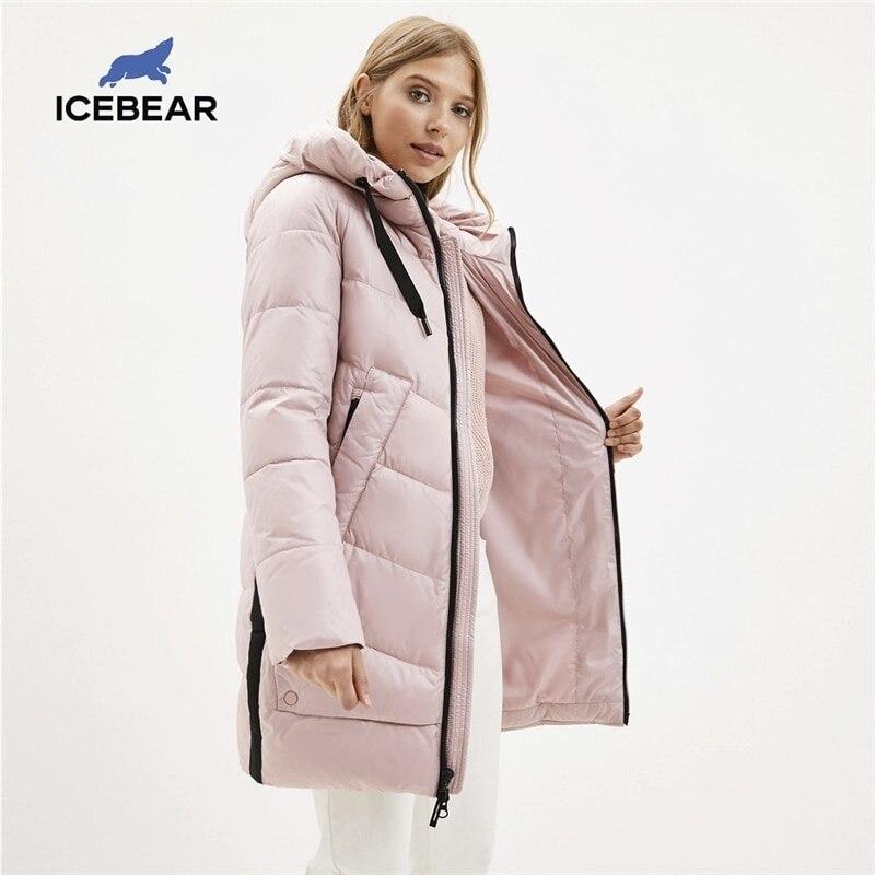 icebear 2020 new winter women's coat hooded female warm cotton jacket winter ladies parka brand clothing GWD20282I Parkas  - AliExpress
