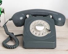 Kablolu telefon döner ev telefon turuncu antika eski moda ev telefonu klasik Vintage telefonlar en iyi ev hediye