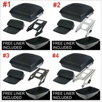 Motorcycle Matte Black Chopped Pack Trunk Razor Backrest Rack For Harley Tour Pak Touring Road Electra Street Glide 14 Up|Motorcycle Trunk| |  -