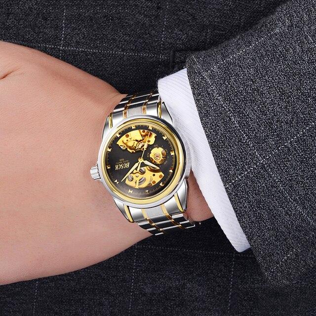Automatic Mechanical Gold Skeleton Self Winding Watch 6
