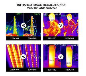 Image 2 - Cámara infrarroja térmica para exteriores, Pantalla TFT de mano, x 320 2019, actualización de HT A2 para caza al aire libre, 240