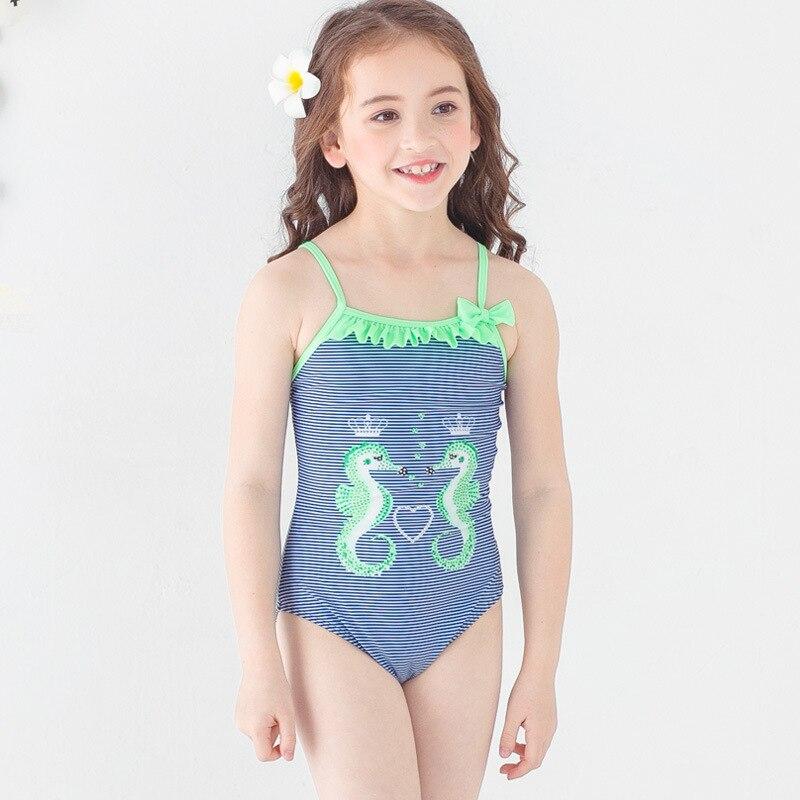PA Yasen New Style Bathing Suit-Style Children Cute Cartoon One-piece Triangular Bathing Suit 1835