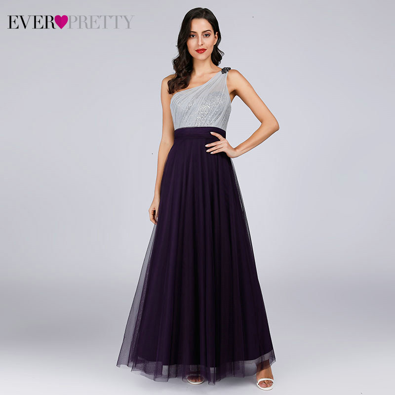 Sparkle   Prom     Dresses   Ever Pretty A-Line Sequined Beaded One Shoulder Ruched Sexy Evening Party Gowns Vestidos Largos De Fiesta