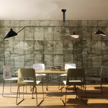 Moderno Retro metal industrial clásico lámpara de techo amanecer araña Serge moulle artístico negro sala de estar Oficina café desván Decoración
