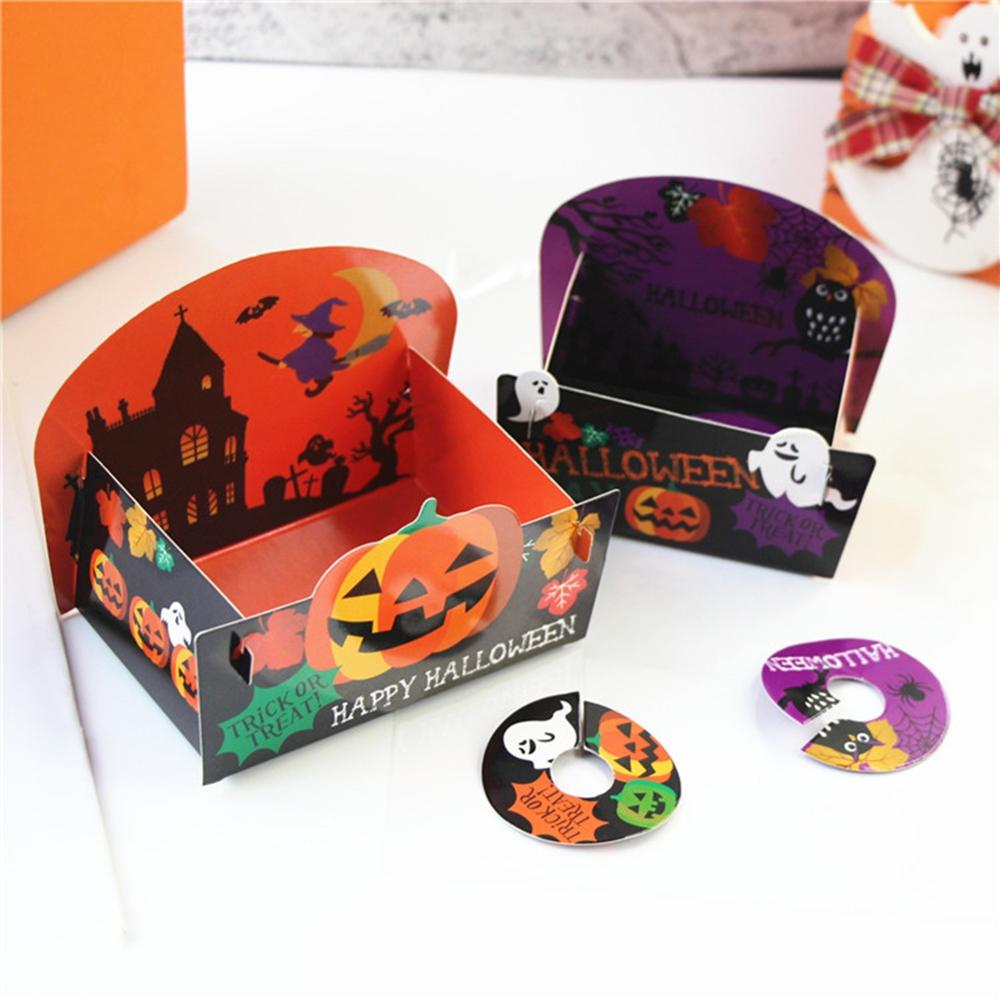 Series-Bags Packaging-Bag Paper-Box Halloween-Theme Food-Grade 50PCS with Festive Baking