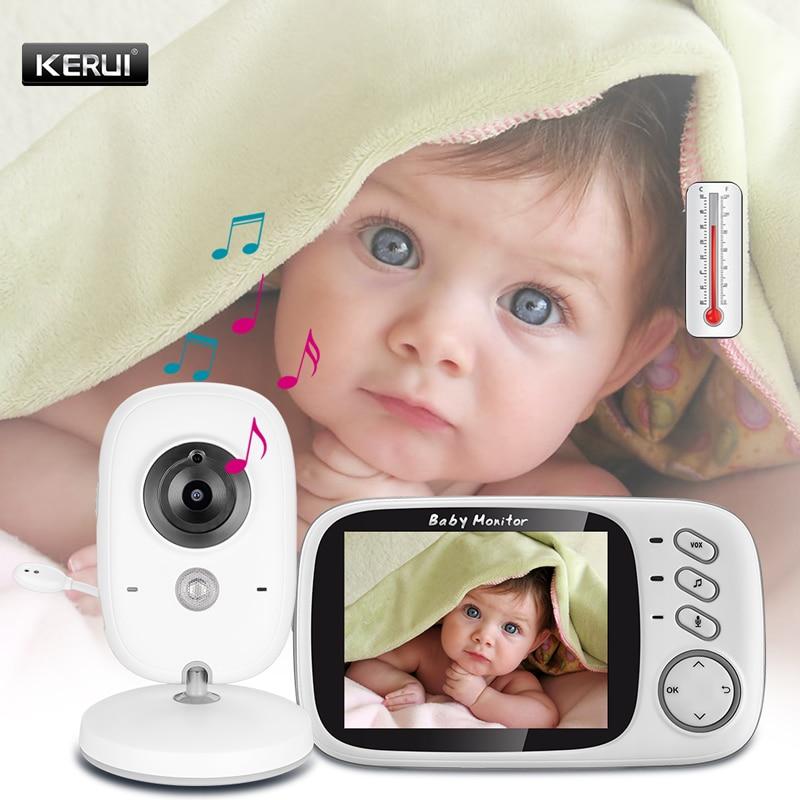 3.2 インチポータブルワイヤレスベビーモニター屋内温度監視ビデオ防犯カメラ  グループ上の セキュリティ & プロテクション からの ベビーモニター の中 1