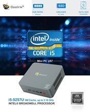 Beelink U57 Mini PC 8GB 256GB Intel Broadwell i5-5257U Genuine Wins 10 HDMI USB3.0 Dual WiFi 1000M LAN Mini Computer Up To 3.1G