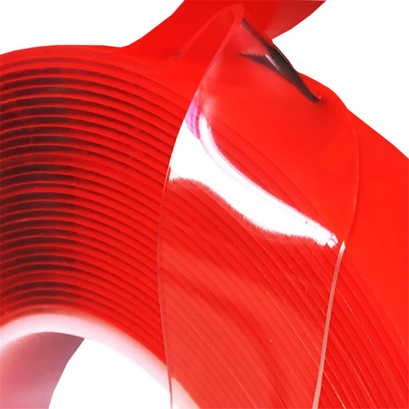 0.6-6cm X 3m Transparent Silicone Double Sided Tape Sticker For Car High Strength High Strength No Traces Adhesive Sticker