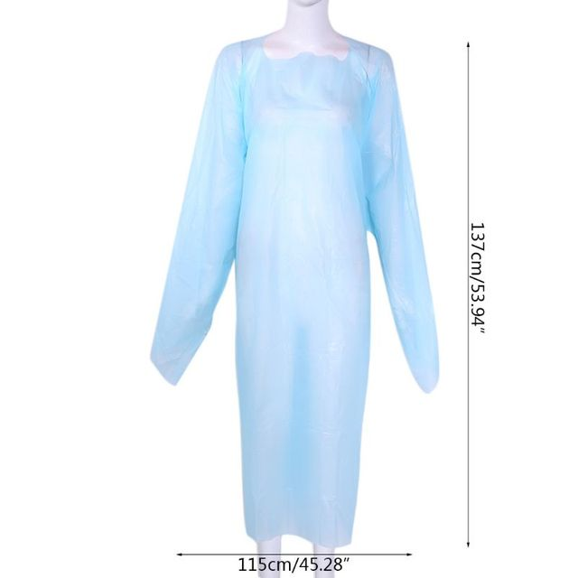 Disposable Clothes Waterproof Gown Dustproof  Raincoat Rainproof PPE Anti Dirty Anti-Viruses Unisex Protective Suit 4
