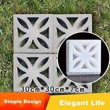 Concrete Texture Design Mold Pavement Flower-Shape Curve Square ABS Classic Good-Quality