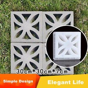 30cm /11.81in boa qualidade clássico simples curva forma de flor design textura quadrado forte abs concreto grosso pavimento molde