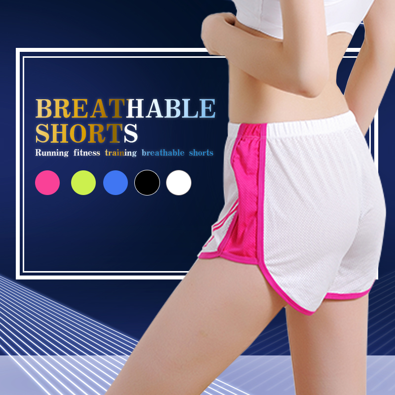 Soft Quick Drying Sportwear Fitness Polyester Yoga Outdoors Bodybuilding Shorts Sports Pants Fashion Women Trousers