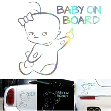 3D Baby on Board Car Decoration Sticker Warning Scratch Cover Cute Accessories