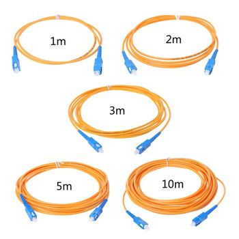 SC/UPC-SC/UPC-SM 3mm Fiber Optic Jumper Cable Single Mode Extension Patch Cord 831D 1