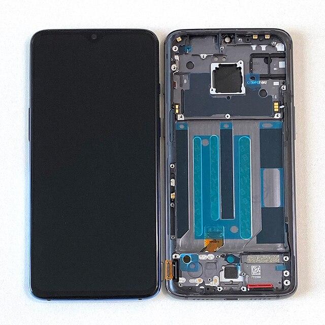"""6.41 """"원래 Supor Ampled M & Sen OnePlus 7 LCD 화면 디스플레이 + 터치 패널 디지타이저 OnePlus 7 LCD 디스플레이 터치 프레임"""