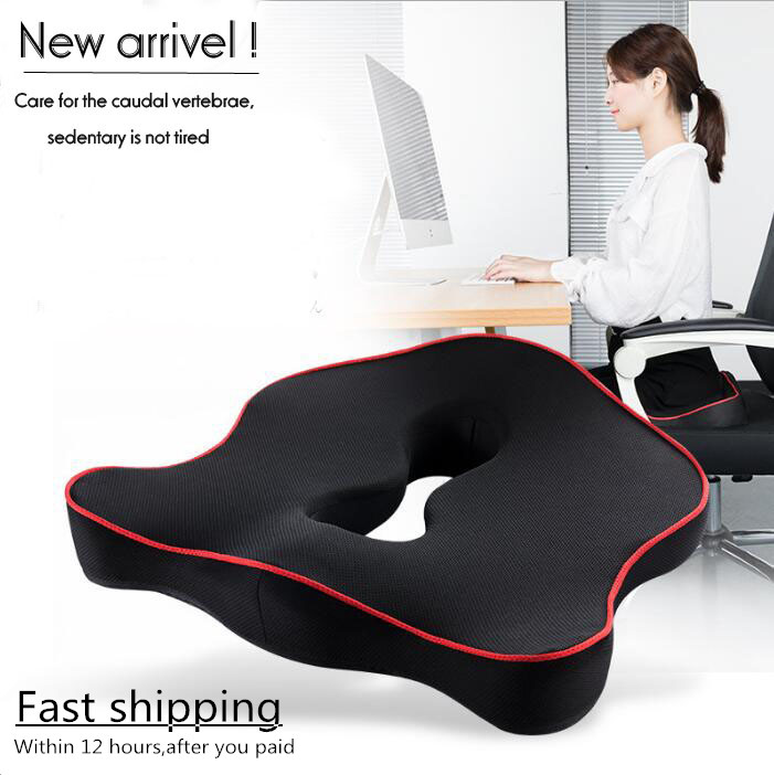 Seat Cushion Memory-Foam Office-Chair Tailbone Sciatica Coccyx Orthopedic Lower-Back