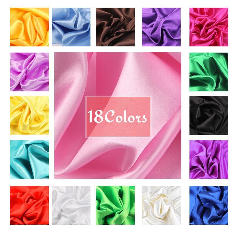 100 см * 150 см 16 цветов s шелковые и Сатиновые Ткани Сатиновые цвета бутиловый шелк Подарочная коробка подкладка Lieb блестящие ткани одежда шить...