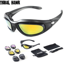 4 Lens Tactical Polarized Glasses Military Goggles Army Sung