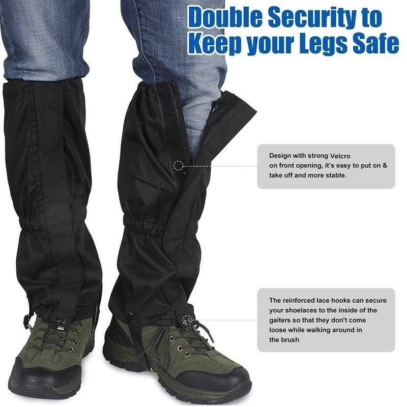 1 Pair Hiking Ski Leg Protector Elastic Easy Wear Cover Leg Gaiter Warmer Hunting Outdoor Walking Waterproof Breathable Snow