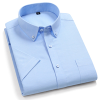 Striped Casual Short Sleeve Oxford Cotton Shirts 1