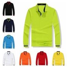 Fall Women Polo Shirt Long Sleeve Fashion Female Shirts Cotton Breathable Large Size Casual Korean Slim Lady POLO Customization