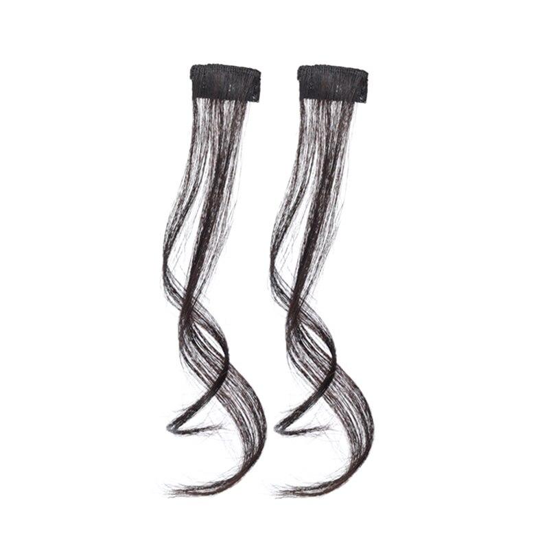 Модные длинные волосы с зажимом в виде дракона и бороды для наращивания волос с бахромой, настоящие натуральные синтетические челки