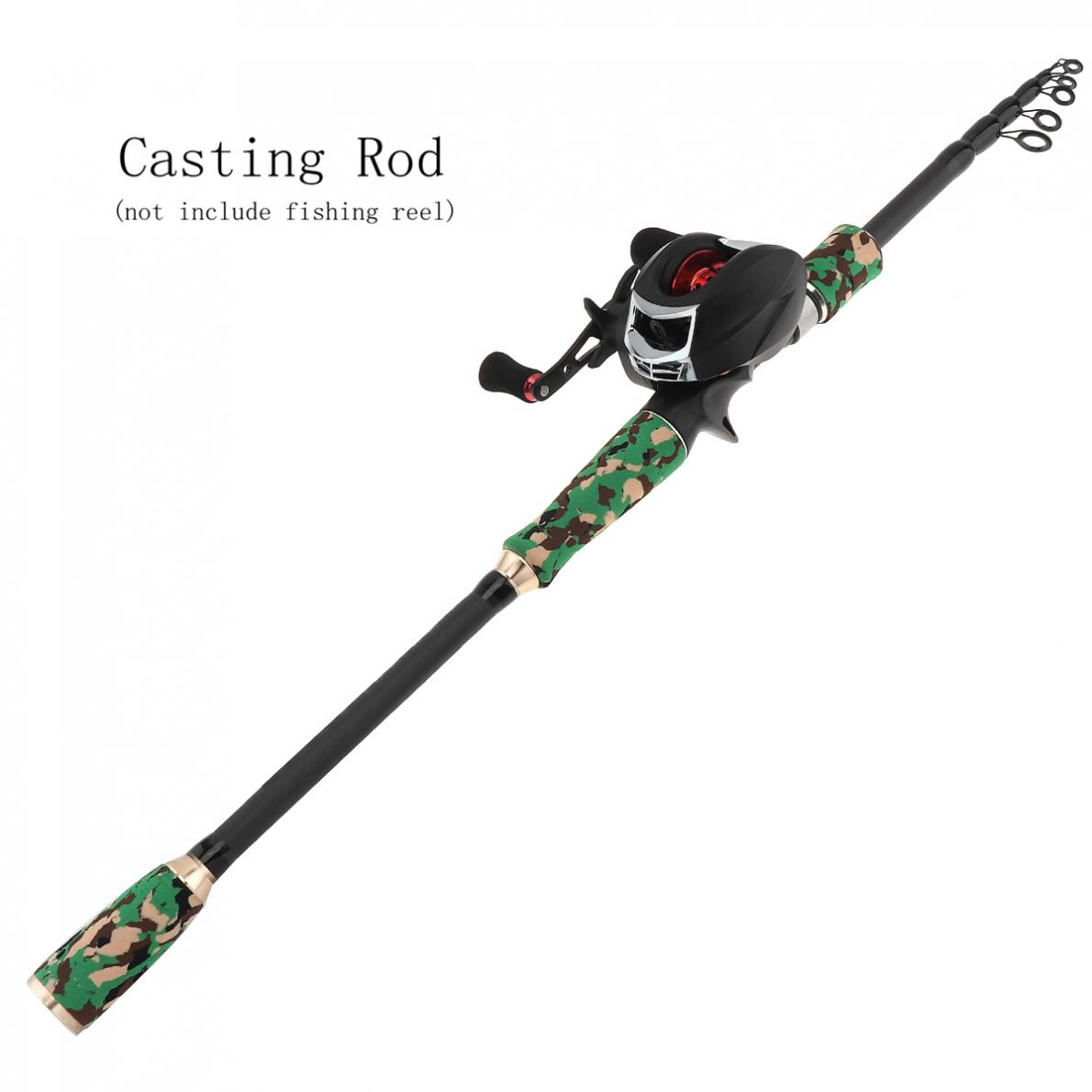 2 7m Green Camouflage Color Carbon Fiber Lure Fishing Rod Spinning Casting Rod 7 Sections Telescopic Ultra Light Fishing Pole in Fishing Rods from Sports Entertainment