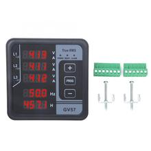 GV57 Generator Set Meter Three-phase Digital Multifunctional Meter Voltage Amp Frequency Meter three phase variable frequency power meter three phase power meter high speed current and voltage power acquisition rs485