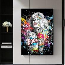 Marilyn Monroe Graffiti Art Prints Pop Art Poster Sexy Portrait Canvas Pictures Street Wall Artwork Mural for Home Decor