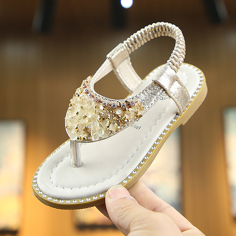 Baby Girl Shoes Princess Girls Sandals 2020 Summer Crystal Slipper Bling Sequins Rhinestone Girls Slipper Children Casual Shoes