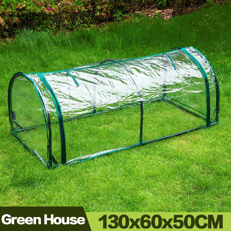 AULAYSED Outdoor Plant Greenhouse Mini Durable agriculture invernadero Bird Pest Control with Stand insulation