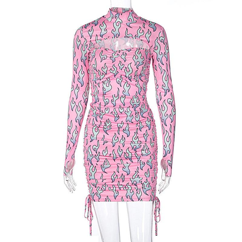 print turtleneck dress14