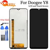 Pantalla LCD y montaje de digitalizador con pantalla táctil de 6 1 pulgadas para Doogee Y8 repuesto para teléfono Doogee Y8 + herramientas|Pantallas LCD para teléfonos móviles|Teléfonos y telecomunicaciones -