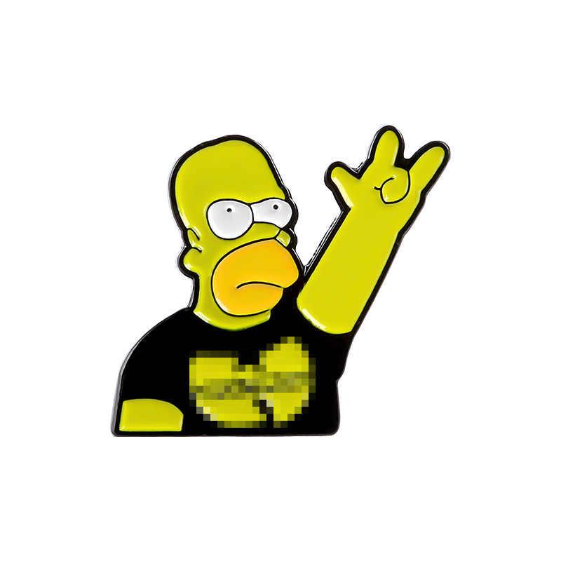 Tidak Pernah Terlalu Tua untuk Rock Enamel Pin Rock And Roll Band Simpson Bros Shirt Lapel Tas Lucu Lencana Kartun Perhiasan hadiah untuk Teman-teman