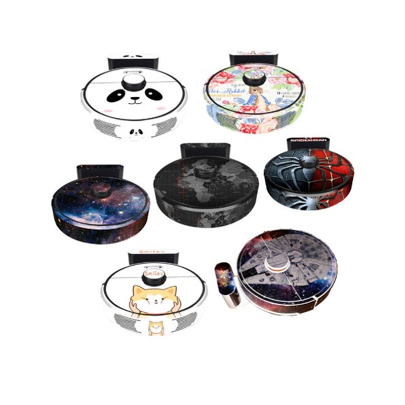 Cute Sticker For Roborock S6 Black Robot Vacuum Cleaner Xiaomi 3st Protective Film Sticker Paper Cleaner Parts Not Brush Filter